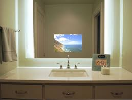 Séura Illuminated Television Mirror Contemporary Bathroom