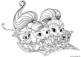 Print Shimmer And Shine Pets Coloring Pages Printable Coloring