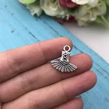 details about 7pcs ballet dress charm tibet silver charms pendants diy jewellery making crafts
