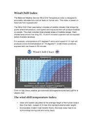 Fillable Online Wind Chill Index Doc Fax Email Print Pdffiller