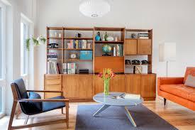modern style living room furniture. Beautiful Teak Wooden Shelf In Scandinavian Living Room Modern Style Furniture O