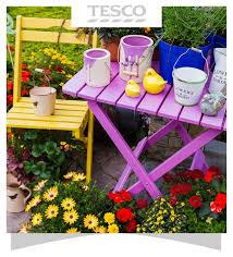 tesco wooden garden table garden