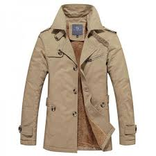 men thick blends fashion style stand collar single ted windproof warm winter coat plus size male outwear