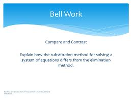 compare and contrast explain how the substitution method for solving a system of equations differs from