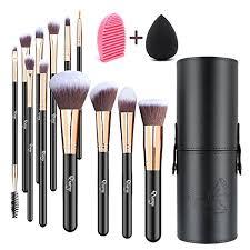 makeup brushes qivange 12pcs makeup brush set with holder foundation brush eye