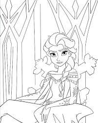 Elsa Frozen Coloring Pages Bballcordobacom