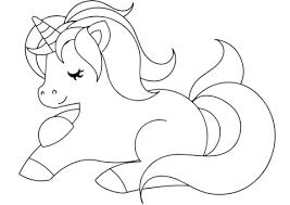 Disegno Di Unicorno Carino Da Colorare Disegni Da Colorare E