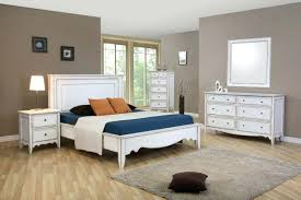 White Double Bedroom Set White Sleigh Bed 4 Pieces Contemporary ...