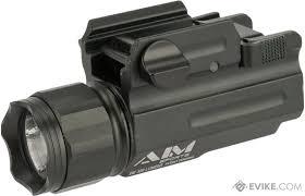 Aim Pistol Light Aim Sports Pistol Rifle Quick Release 3 Watt 330 Lumens Combat Flashlight W Filter Set