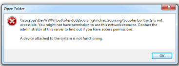 A Device Attached To The System Is Not Functioning Awesome A Device Attach To The System Is Not FunctioningSharePoint Explorer