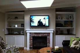 image of wall mount tv fireplace on