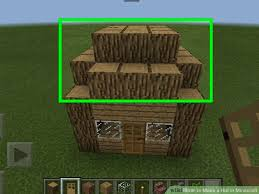 image titled make a hut in minecraft step 4