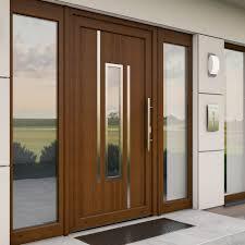 Haustür Mit Fenster Integrierter Glaseinsatz Seitenteile Und