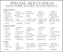 Key Skills On Resume List Of Key Skills For Cv Resume Template 2018