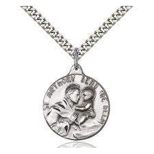 st anthony medal sterling silver
