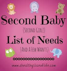 list of items needed for baby weigh in necessary items for a second baby a healthy slice of life