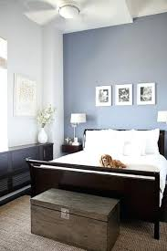 Blue Color For Bedroom White And Dark Brown Furniture With Accent Wall  Light Blue Bedroom Color