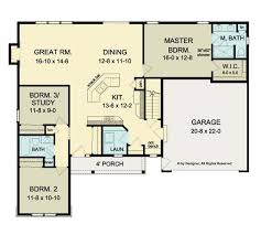 3 Bedroom Open Floor House Plans Simple Ideas