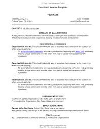 Sample Combination Resume Functional Resumermat Stupendous Resume Template Executive