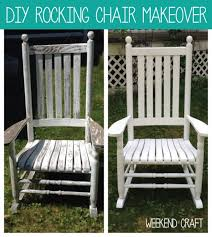picture of diy rocking chair makeover with olympic stain