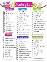 list for traveling great for double checking to lose that nagging feeling you