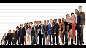 Height Chart With People Celebrity Height Comparison Chart 10k Subscribers Special