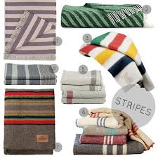 Striped Blankets And Throws