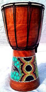 African Drum Designs 30cm Djembe Drum With Hand Painted Design West African