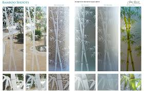 exterior glass doors etched bamboo bamboo shoots design specialty