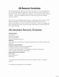 Resume Template For Human Resources Fresh Human Resource Management