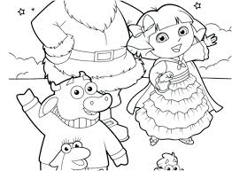 Free Printable Colouring Pages Dora The Explorer Coloring Games Map