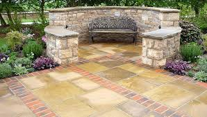 mixed design patio with a seating area