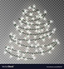 White Garland No Lights Christmas Tree Of White Lights String Transparent