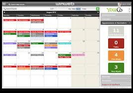 Winweb Online Calendar