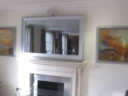mirror tv. silver modernisation tv mirror frame tv