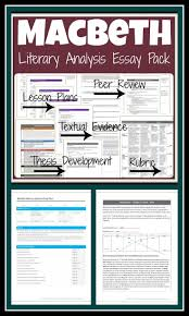 17 best ideas about macbeth analysis shakespeare literary analysis essay pack tons of writing activities for macbeth lead your students through