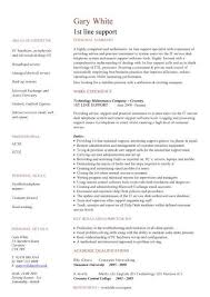 49 New First Line Support Resume Example