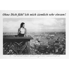 Postkarte Sprüchekarte Ohne Dich