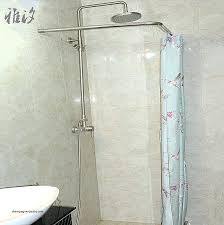 custom shower curtain rods right angle shower curtain rod new custom shower rods l shaped shower