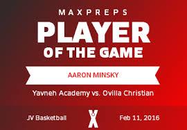 Aaron Minsky   Yavneh Academy, Dallas, TX   MaxPreps