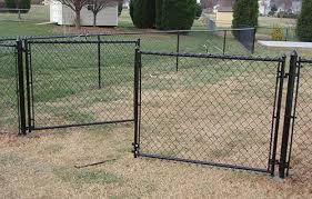 chain link fence double gate. Chain Link Fences Fence Double Gate