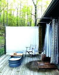outdoor shower curtain outdoor shower curtain rod bathroom stripes ideas for small inside remodel bronze s