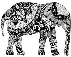 Small Picture Coloring Pages 5435 Adult Elephant Coloring Page ColoringPin In