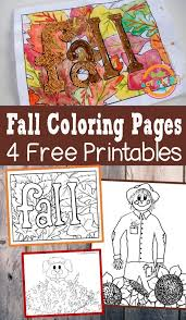 There are 11330 kids coloring sheets for sale on etsy, and they cost $3.76 on average. Awesome Free Printable Fall Coloring Pages 4 Autumn Art Ideas For Kids