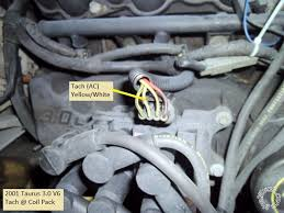 ford taurus remote start w keyless pictorial other tach wire locations are the f i s and the pcm tan yellow pin 48 not shown is the firewall pass thru for the