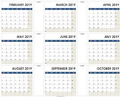 Calendar Template Png 2019 Calendar To Print Free Blank Calendar 2019 Template Printable