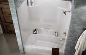 unique one piece acrylic bathtub shower ensign bathroom with