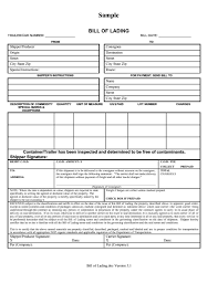 Blank Bill Of Lading Forms Vics Bill Of Lading Template Tagua