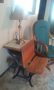 An old school desk from Branson Missouri became a side table with
