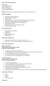 Resume Examples For Receptionist Receptionist Resumes Samples Ideas